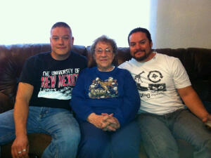 From left to right: my lil bro Thomas, my grandma Emily, and my brother Brian (retired USAF)