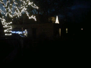 ~The Christmas lights on the home my mother and father built in the Pojoaque Valley~