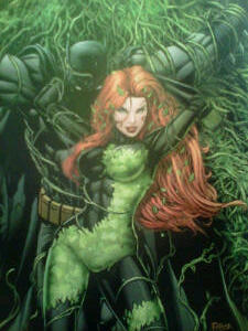 ~Cover of my new comic book~ Batman & Poison Ivy~ Her mind controlling pheromones don't work on him.