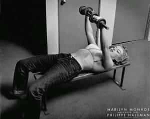 •Marilyn Monroe Lifting Weights•