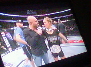 Ronda Rousey accepts her win with Joe Rogan~ UFC® 157
