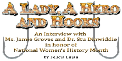 A Lady, A Hero and Hooks Logo by Felicia Lujan