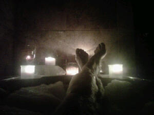 ~Ending the day in heaven (oh, I mean the bathtub) surrounded by my beloved candles and bubbles.~